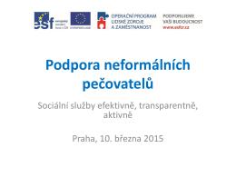 Sborník prezentací ke stažení zde - Podpora procesů v sociálních