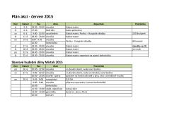 Plán akcí - červen 2015