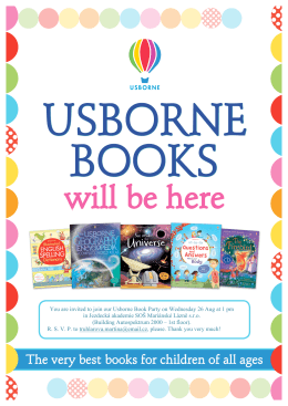 You are invited to join our Usborne Book Party on Wednesday 26