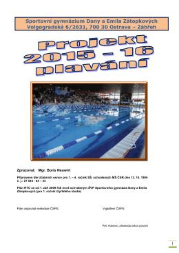 SG Projekt RTC 15-16 web - Klub plaveckých sportů Ostrava