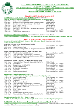 program festivalu/time schedule of the festival - What is OR-FEA?