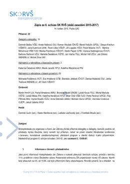 SKRVS_6_schuze_zapis - Studentská komora Rady vysokých škol