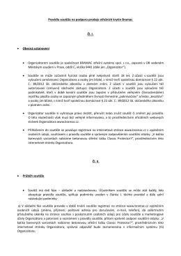 Pravidla soutěže na podporu prodeje střešních krytin Bramac Čl. I