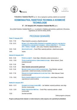 program semináře - Hvězdárna Valašské Meziříčí