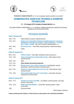 pozvánka na seminář - Hvězdárna Valašské Meziříčí