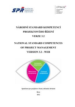 Národního standardu kompetencí projektového řízení