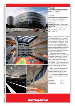 Výstavba Národní technické knihovny Praha 6 - Dejvice