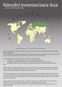 Národní inventarizace lesa - Field-Map