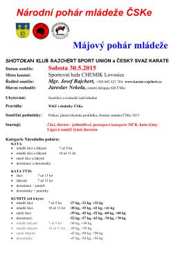 Národní pohár mládeže ČSKe Májový pohár mládeže
