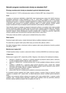 Národní program shody se zásadami SLP