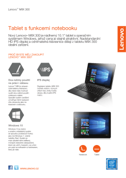 Tablet s funkcemi notebooku