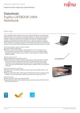 Datasheet Fujitsu LIFEBOOK U904 Notebook - Fujitsu