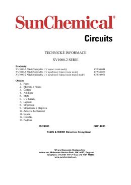 TECHNICKÉ INFORMACE XV1000-2 SERIE