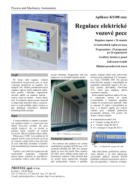 Aplikace KS108 easy Regulace elektrické vozové pece