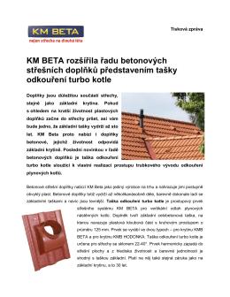 KM BETA rozšířila řadu betonových střešních doplňků