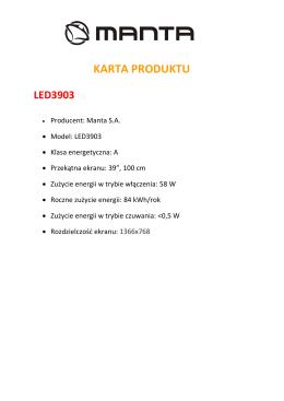 karta produktu led3903