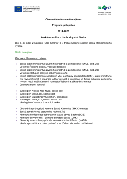 (EU) 1303/2013 - sasko 2014-2020