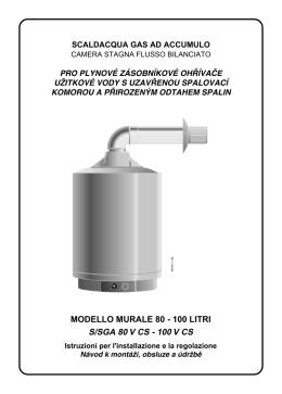 modello murale 80 - 100 litri s/sga 80 v cs - schede