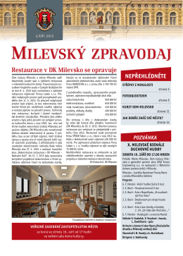 Milevský zpravodaj 9-2015