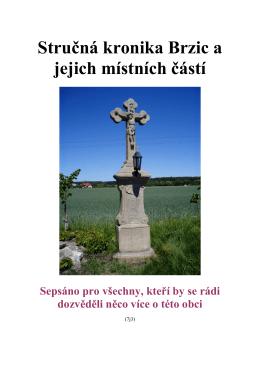 Stručná kronika Brzic a jejich místních částí Sepsáno