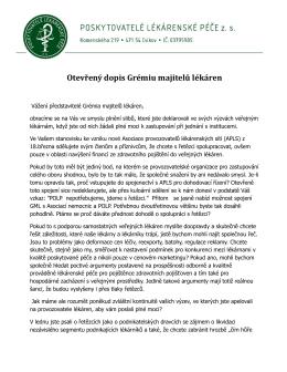 Otevřený dopis Grémiu majitelů lékáren