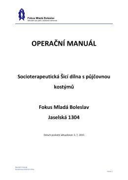 OPERAČNÍ MANUÁL