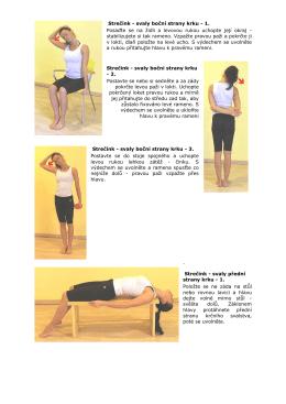 Strečink - svaly boční strany krku - 1. Posaďte se na židli a levovou