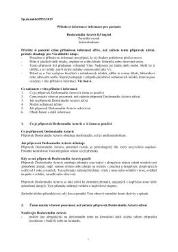 AERIUS, INN-desloratadine - Státní ústav pro kontrolu léčiv