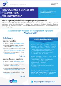 Otevřený přístup a otevřená data v Horizontu 2020