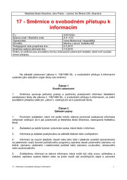 17 - Směrnice o svobodném přístupu k informacím