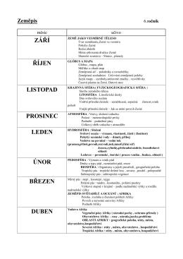Zeměpis_6. - 9. ročník