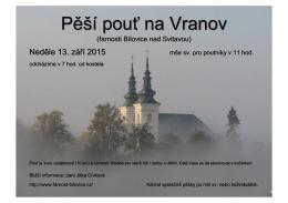 Pěší pouť na Vranov - Farnost Bílovice nad Svitavou