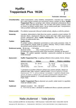 Technický list Rosner Treppenlack Plus
