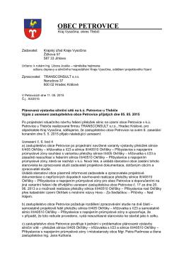 Dopis - Usnesení ZO -5 5 2015 vč