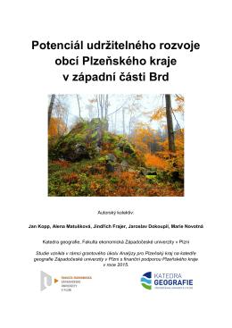 Brdy - 1 Potenciál udržitelného rozvoje obcí Plzeňského kraje v
