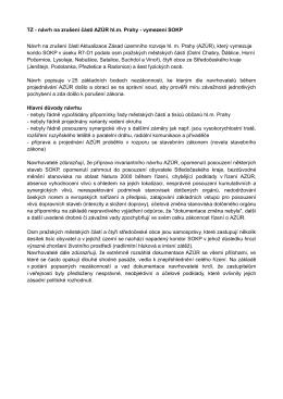 TZ - návrh na zrušení části AZÚR hl.m. Prahy