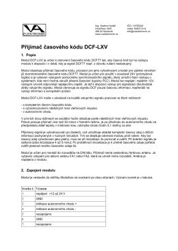 Přijímač časového kódu DCF-LXV