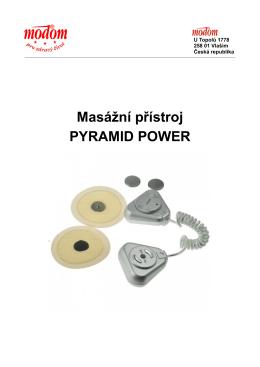 Manuál Masážní přístroj Pyramid Power