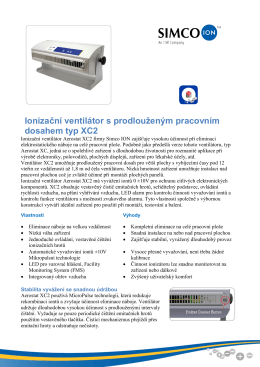 Ionizační ventilátor XC2