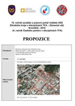 Propozice soutěže v TFA – Zámecká věž