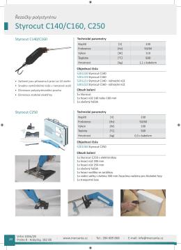 Styrocut C140/C160, C250