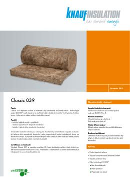 Classic 039 - Knauf Insulation