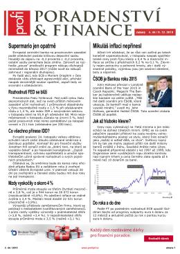 Newsletter Poradenství a Finance 2015/44 z 9.12.2015