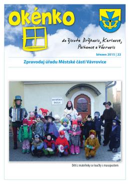 (březen 2015)(PDF: 471.51 kB) - Městská část Vávrovice