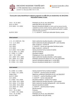 Kalendář akcí 2015/2016
