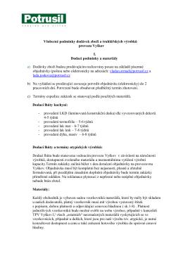 Podmínky dodávek VN- Potrusil _rozprac