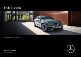 Stáhnout ceník třídy E - Mercedes-Benz