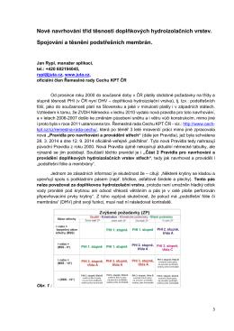 Nové navrhování tříd těsnosti doplňkových hydroizolačních vrstev