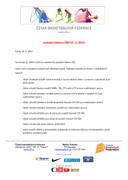 Jednání Výboru ČBF 22.05.2014