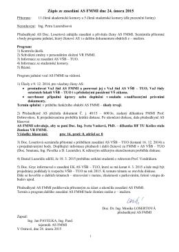 jednání senátu 24. 2. 2015